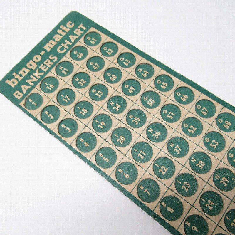 紙モノ 1950~60年代 ビンゴシート バンカーズチャート