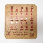 チケット、スコアパッドなどの紙物・紙モノ雑貨  紙モノ 1950~60年代  F.O.E. ビンゴシート ボード番号120