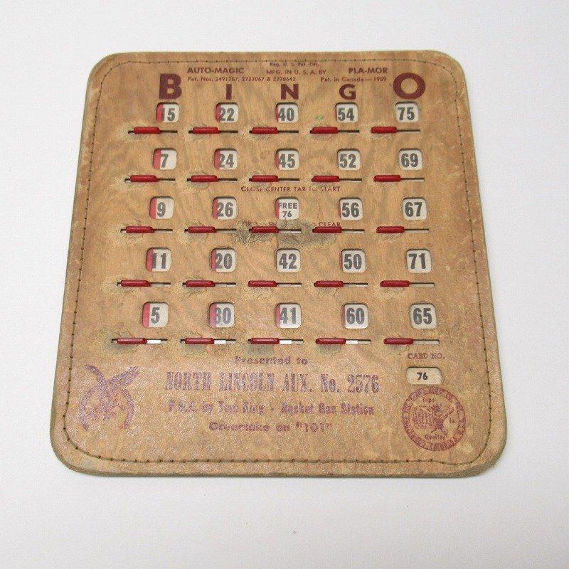 紙モノ 1950~60年代  F.O.E. ビンゴシート ボード番号76