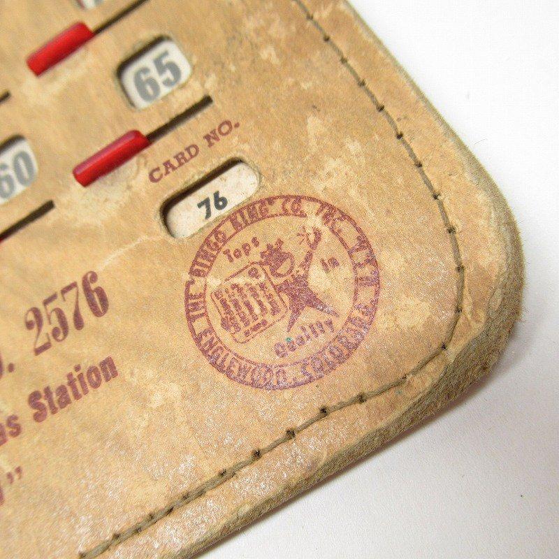 紙モノ 1950~60年代  F.O.E. ビンゴシート ボード番号76【画像2】