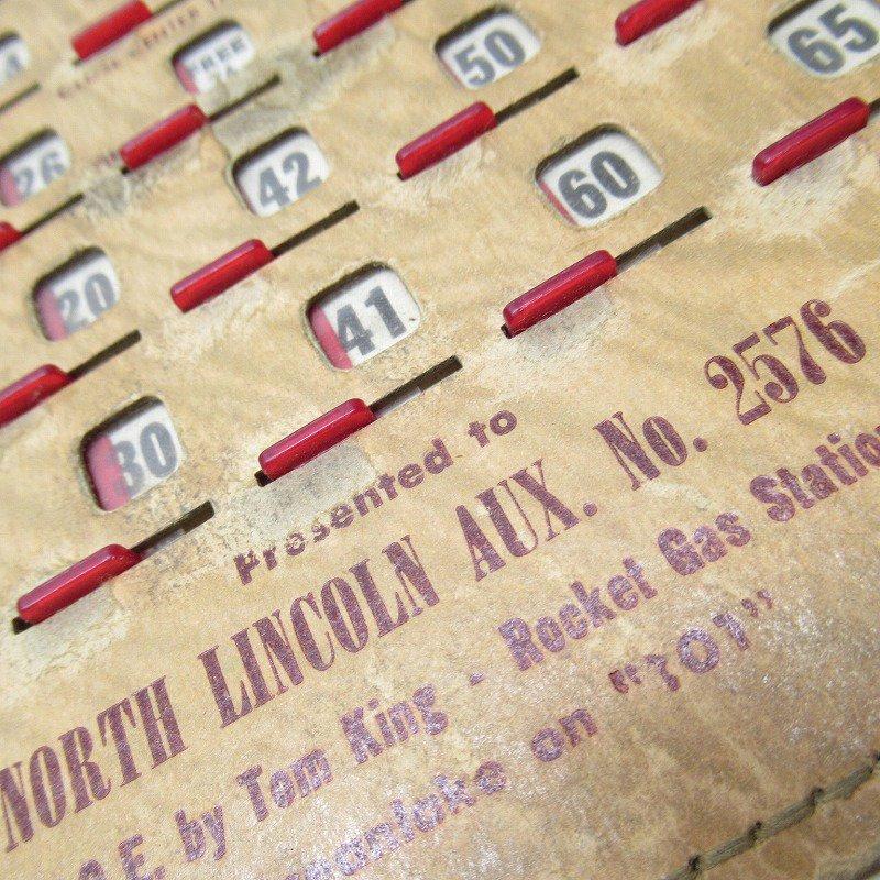紙モノ 1950~60年代  F.O.E. ビンゴシート ボード番号76【画像4】