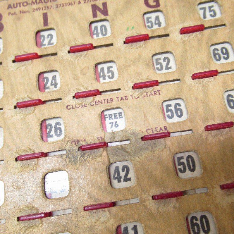 紙モノ 1950~60年代  F.O.E. ビンゴシート ボード番号76【画像5】