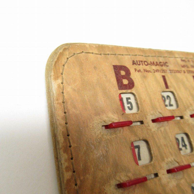 紙モノ 1950~60年代  F.O.E. ビンゴシート ボード番号76【画像6】