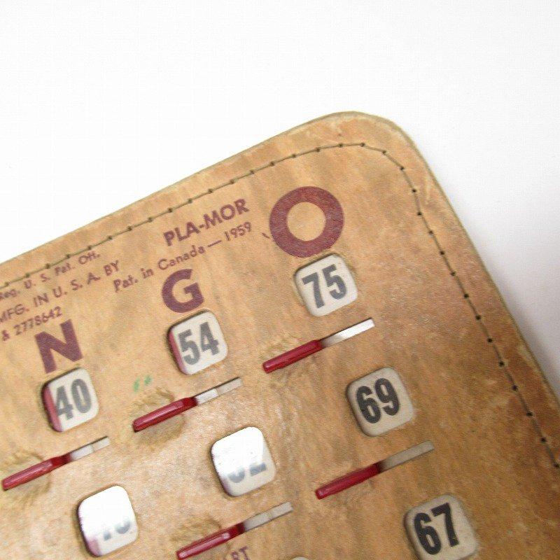 紙モノ 1950~60年代  F.O.E. ビンゴシート ボード番号76【画像7】