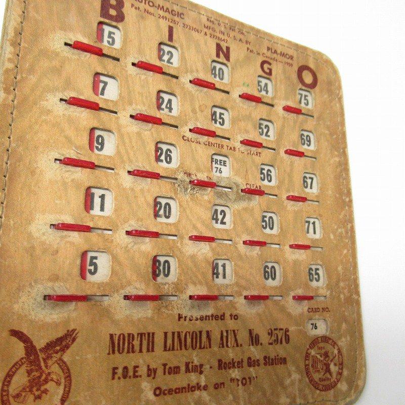 紙モノ 1950~60年代  F.O.E. ビンゴシート ボード番号76【画像9】