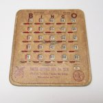 チケット、スコアパッドなどの紙物・紙モノ雑貨  紙モノ 1950~60年代  F.O.E. ビンゴシート ボード番号76