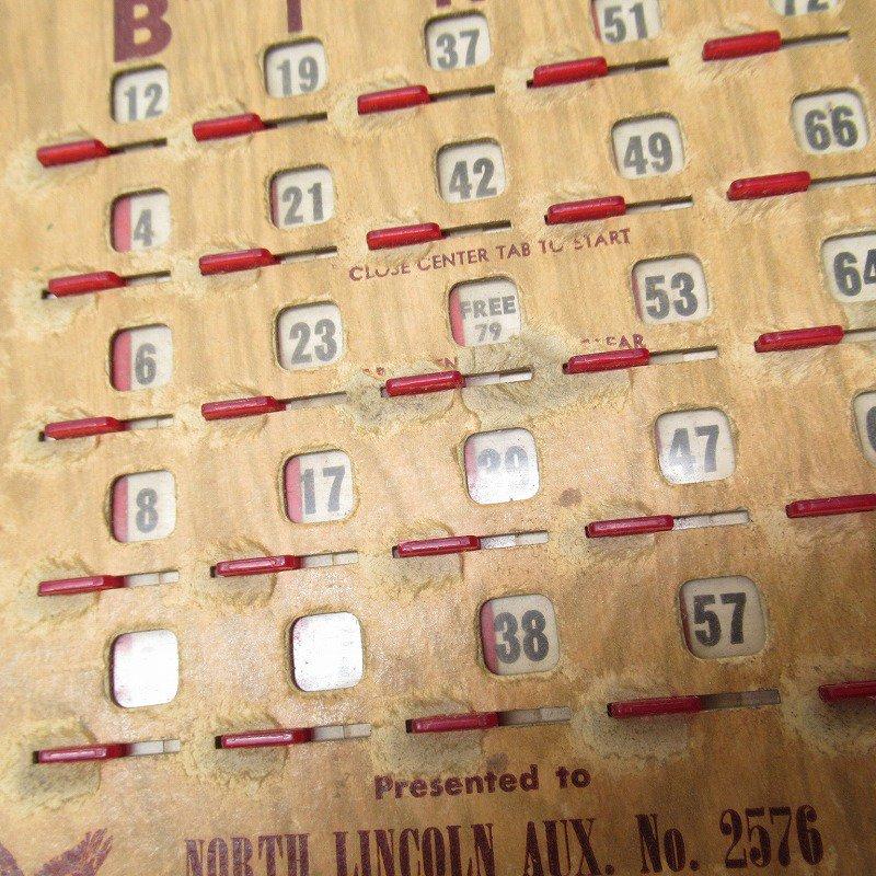 紙モノ 1950~60年代  F.O.E. ビンゴシート ボード番号79【画像5】