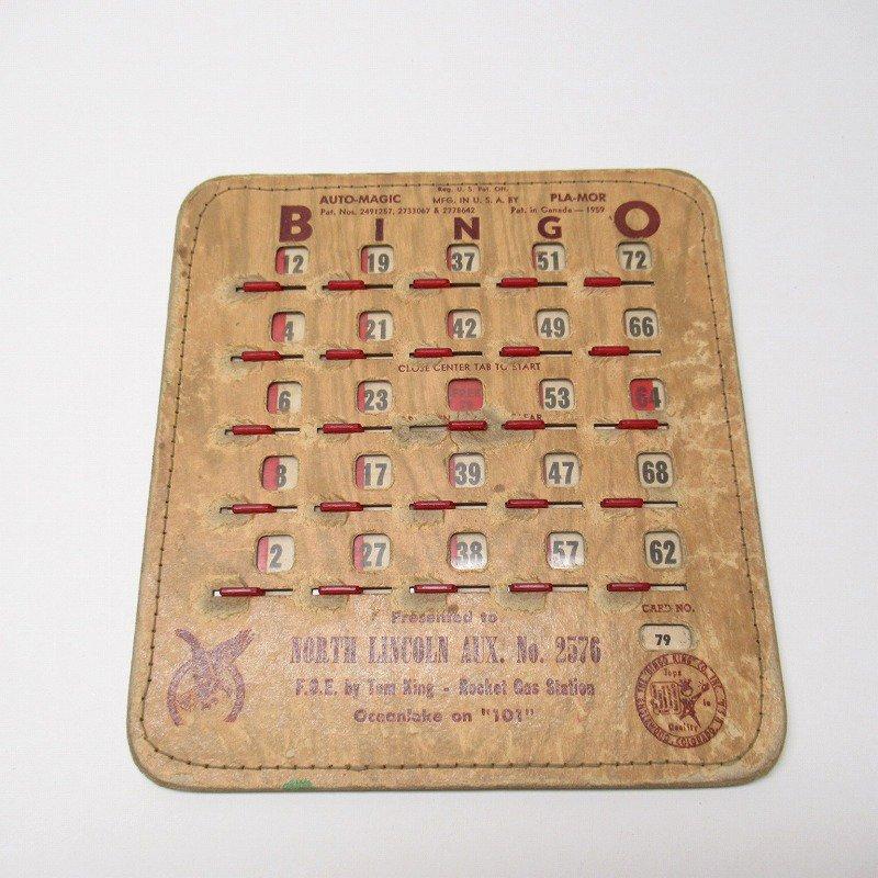 紙モノ 1950~60年代  F.O.E. ビンゴシート ボード番号79【画像6】