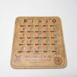 チケット、スコアパッドなどの紙物・紙モノ雑貨  紙モノ 1950~60年代  F.O.E. ビンゴシート ボード番号79