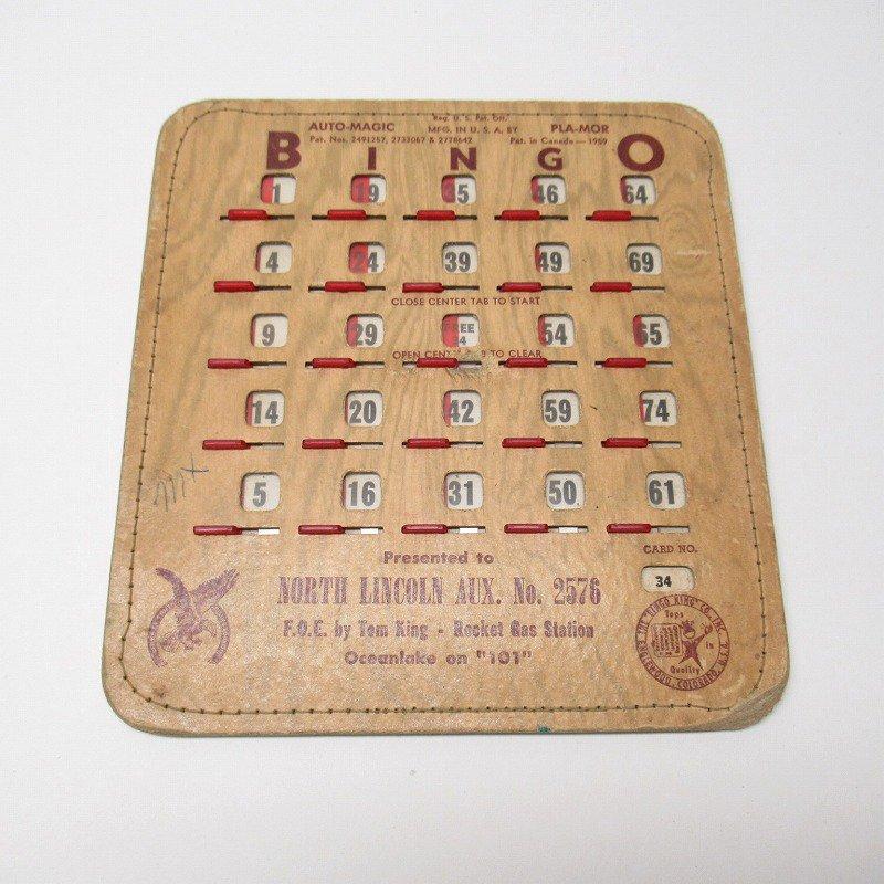 紙モノ 1950~60年代  F.O.E. ビンゴシート ボード番号34