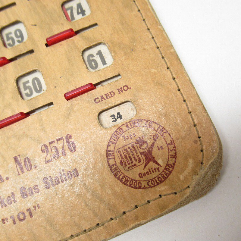 紙モノ 1950~60年代  F.O.E. ビンゴシート ボード番号34【画像2】