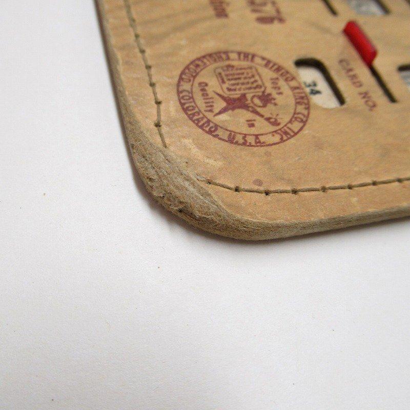 紙モノ 1950~60年代  F.O.E. ビンゴシート ボード番号34【画像3】