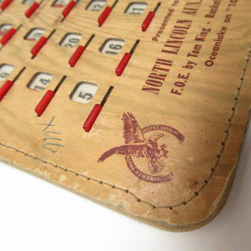紙モノ 1950~60年代  F.O.E. ビンゴシート ボード番号34【画像4】