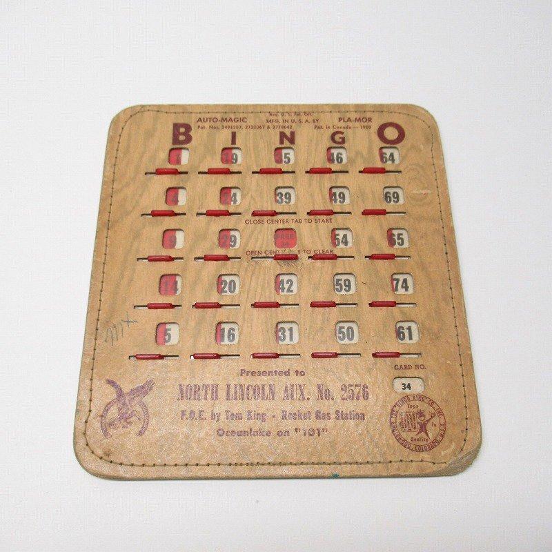 紙モノ 1950~60年代  F.O.E. ビンゴシート ボード番号34【画像5】