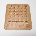 チケット、スコアパッドなどの紙物・紙モノ雑貨  紙モノ 1950~60年代  F.O.E. ビンゴシート ボード番号34
