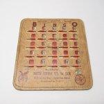 チケット、スコアパッドなどの紙物・紙モノ雑貨  紙モノ 1950~60年代  F.O.E. ビンゴシート ボード番号21