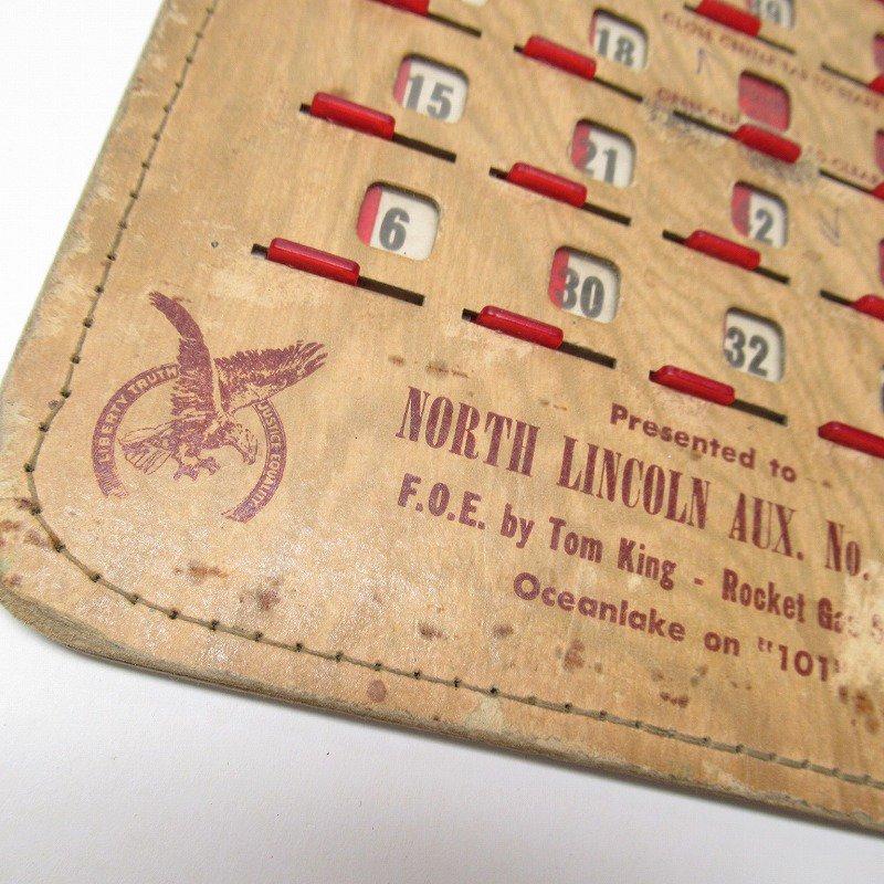 紙モノ 1950~60年代  F.O.E. ビンゴシート ボード番号53【画像3】