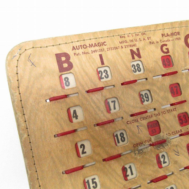 紙モノ 1950~60年代  F.O.E. ビンゴシート ボード番号53【画像4】