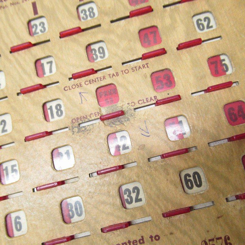 紙モノ 1950~60年代  F.O.E. ビンゴシート ボード番号53【画像5】