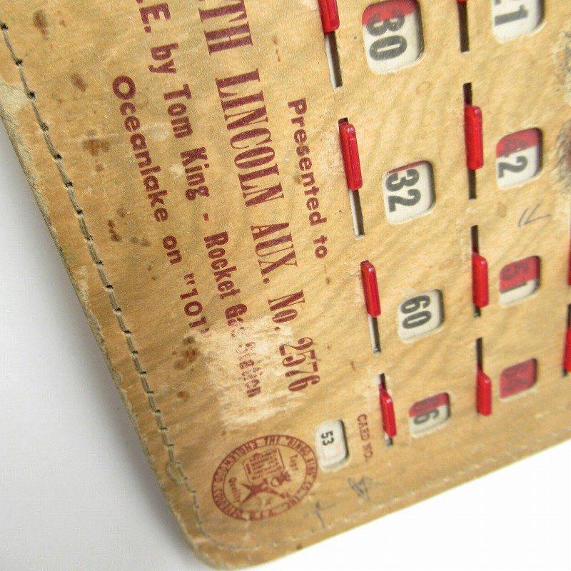 紙モノ 1950~60年代  F.O.E. ビンゴシート ボード番号53【画像6】