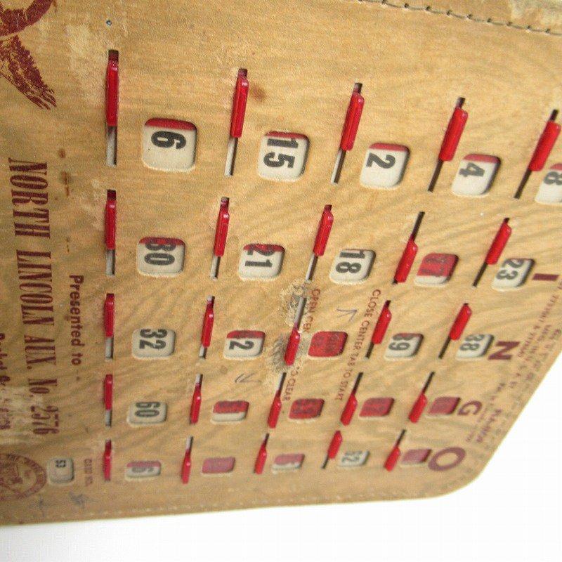 紙モノ 1950~60年代  F.O.E. ビンゴシート ボード番号53【画像7】