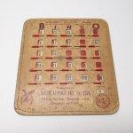 チケット、スコアパッドなどの紙物・紙モノ雑貨  紙モノ 1950~60年代  F.O.E. ビンゴシート ボード番号53
