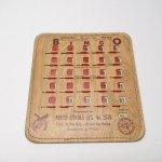 チケット、スコアパッドなどの紙物・紙モノ雑貨  紙モノ 1950~60年代  F.O.E. ビンゴシート ボード番号151