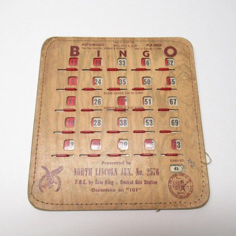 紙モノ 1950~60年代  F.O.E. ビンゴシート ボード番号43