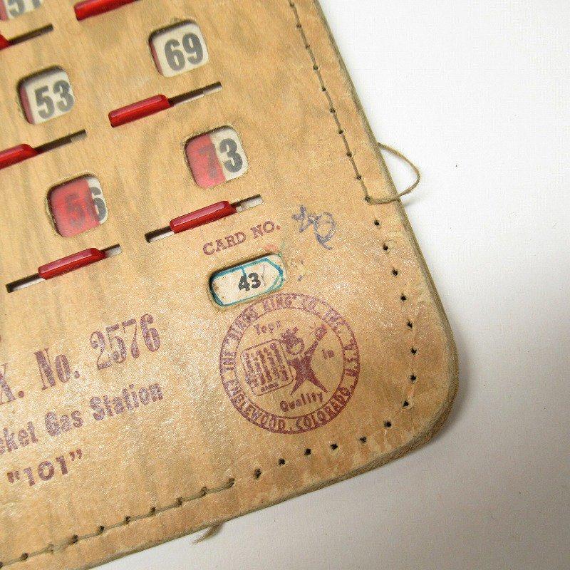 紙モノ 1950~60年代  F.O.E. ビンゴシート ボード番号43【画像2】