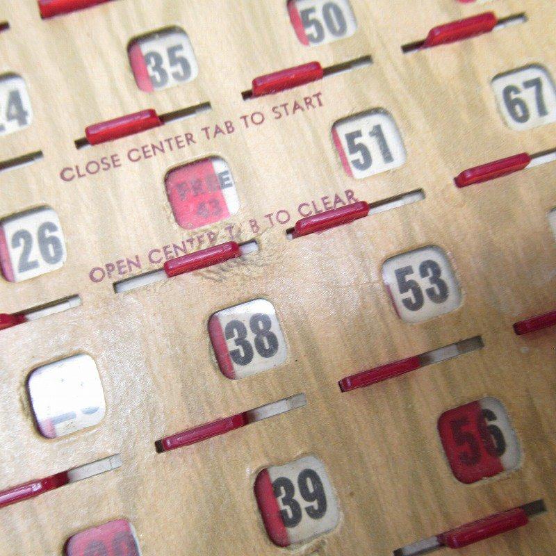 紙モノ 1950~60年代  F.O.E. ビンゴシート ボード番号43【画像5】