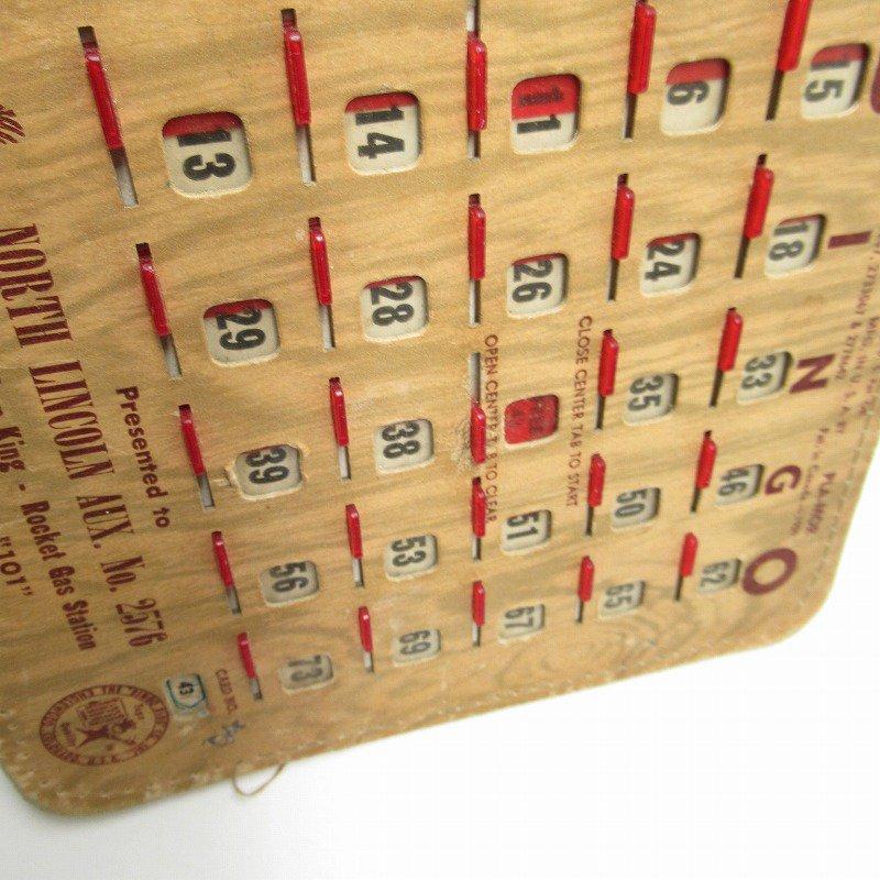 紙モノ 1950~60年代  F.O.E. ビンゴシート ボード番号43【画像9】
