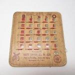 チケット、スコアパッドなどの紙物・紙モノ雑貨  紙モノ 1950~60年代  F.O.E. ビンゴシート ボード番号43