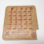 チケット、スコアパッドなどの紙物・紙モノ雑貨  紙モノ 1950~60年代  F.O.E. ビンゴシート ボード番号93