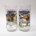 キャラクター  ハンナバーベラ 1991年 フリントストーン &ハーディーズ 30周年記念 コラボグラス 「バンバンがやってきた」
