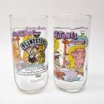 キャラクター  ハンナバーベラ 1991年 フリントストーン &ハーディーズ 30周年記念 コラボグラス 「ドライブインへレッツゴー」