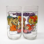 キャラクター  ハンナバーベラ 1991年 フリントストーン &ハーディーズ 30周年記念 コラボグラス 「ぺブルス誕生」
