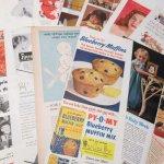 ヴィンテージ広告マガジン切抜き  紙モノ ヴィンテージマガジン 広告切り抜き 1/3サイズ 12枚セット B
