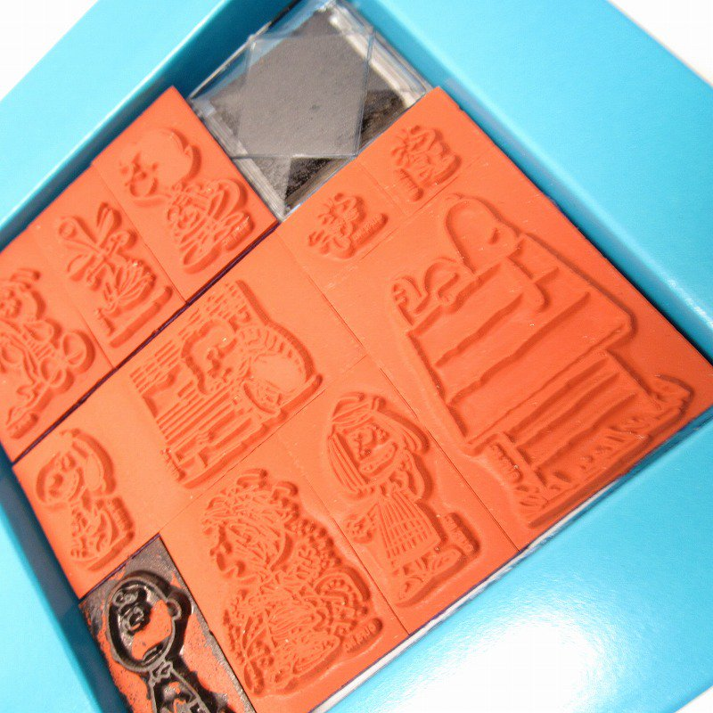 スヌーピー 11種 ウレタンスタンプセット スタンプパッド付き【画像5】