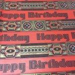 イベント  ヴィンテージラッピングペーパー Happy Birthday Red 2枚セット