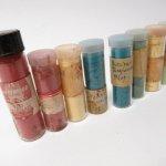 パッケージ&パッケージに味のある雑貨&チーズボックスなど  ヴィンテージガラス瓶入り 磁器用染料8本セット