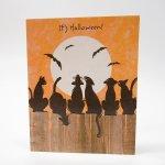 ハロウィン&サンクスギビング  ハロウィン ホールマーク ヴィンテージカード It's Halloween 黒猫たち 未使用