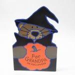 ハロウィン&サンクスギビング  ハロウィン ホールマーク ヴィンテージカード For Grandpa on Halloween くまのウィッチ 未使用