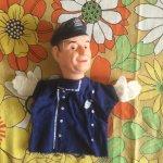 ぬいぐるみ  ヴィンテージパペット 1960年代 警官パペット