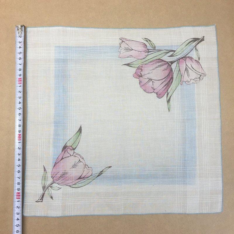 ヴィンテージハンカチ 紫のチューリップ【画像4】