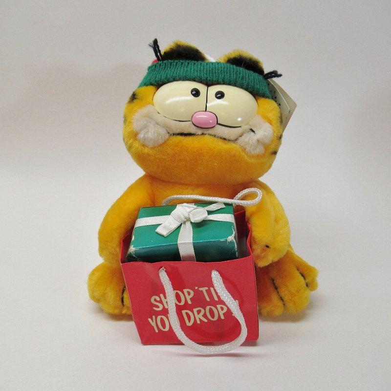 ガーフィールド DAKIN社 1980年代 クリスマス Shop 'til you drop!! オリジナル紙タグ付き