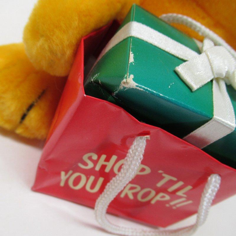 ガーフィールド DAKIN社 1980年代 クリスマス Shop 'til you drop!! オリジナル紙タグ付き【画像3】