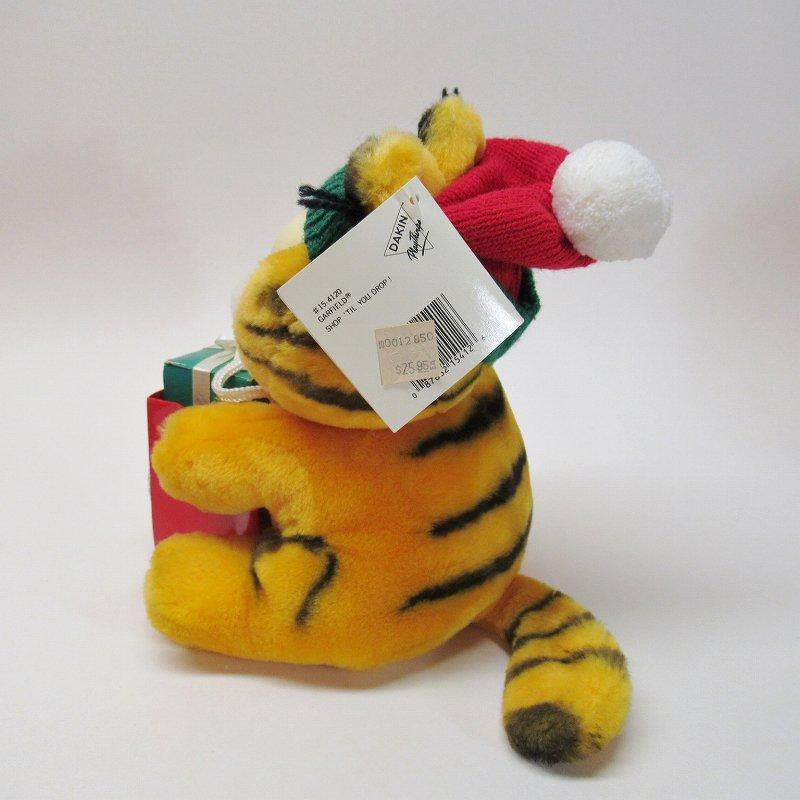 ガーフィールド DAKIN社 1980年代 クリスマス Shop 'til you drop!! オリジナル紙タグ付き【画像7】