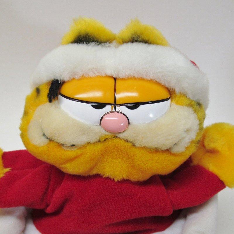 ガーフィールド DAKIN社 1980年代 クリスマス サンタと煙突プラッシュ パペット【画像2】