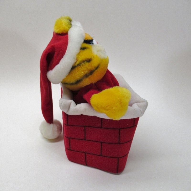 ガーフィールド DAKIN社 1980年代 クリスマス サンタと煙突プラッシュ パペット【画像6】