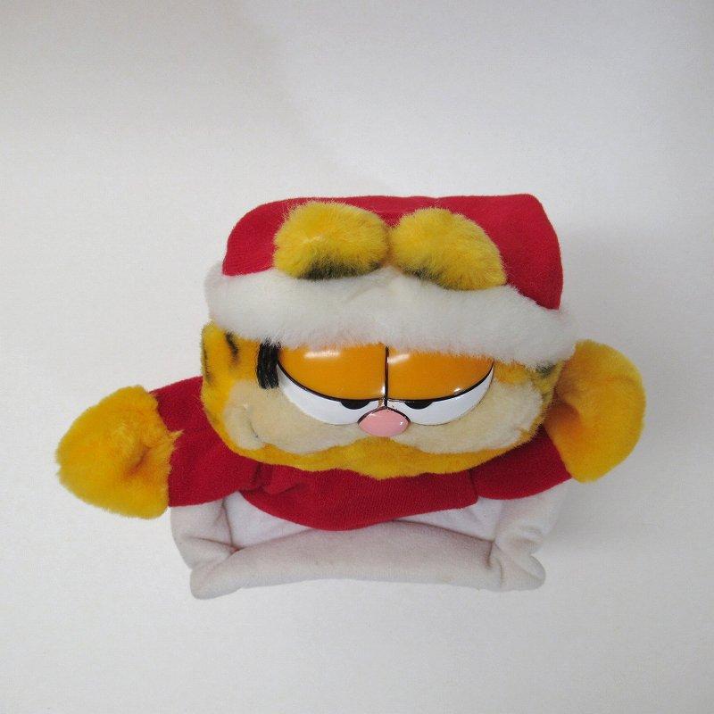 ガーフィールド DAKIN社 1980年代 クリスマス サンタと煙突プラッシュ パペット【画像8】